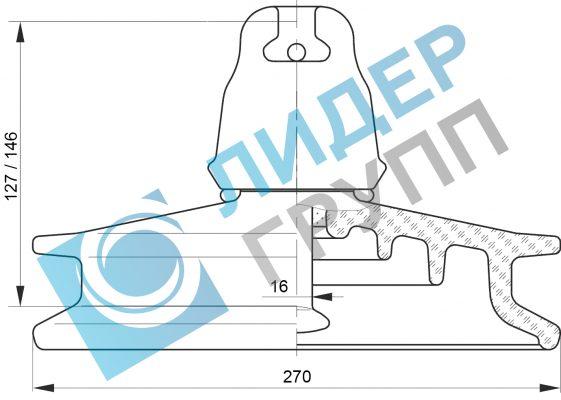 steklyannye-izolyatory-psd70e-chertezh