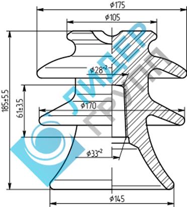 Фарфоровый изолятор ШФ-20