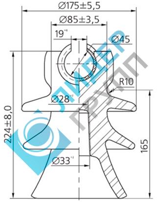 Фарфоровый изолятор ШФ-20Г1